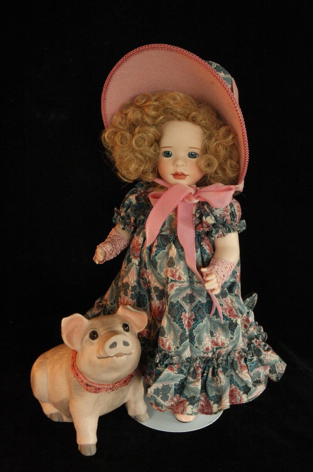 Wendy Lawton en el mercado, al mercado le menta en caja Muñeca De Porcelana Todo Original & Cerdo