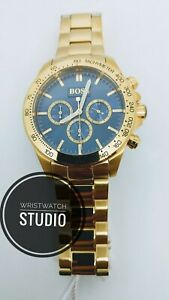 HUGO-BOSS-HB1513340-MENS-WATCH-IKON-STEEL-GOLD-CHRONOGRAPH-WITH-WARRANTY