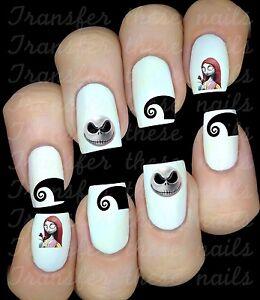 image is loading 30 nightmare before xmas jack sally nail art - Nightmare Before Christmas Nail Art