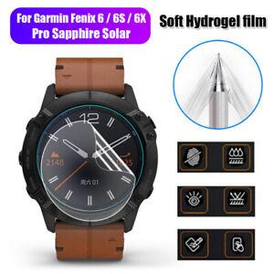 Garmin-Fenix-6-6s-6x-pro-Zafiro-Protector-de-pantalla-Gel-de-agua-Tpu-blando