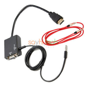 HDMI-Male-to-VGA-Female-Converter-Adapter-Audio-Cable-for-DVD-HDTV-1080P-PC