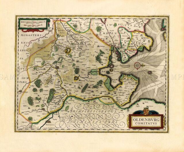 Map 1645 Blaeu Muscovy Russia Historic Large Canvas Art Print