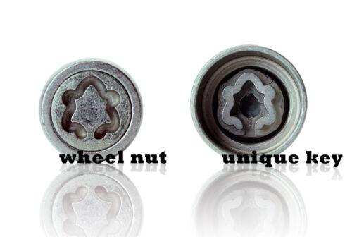 Kia Stonic 2017-on Premium Anti-theft Heyner wheel locking nuts M12x1.5