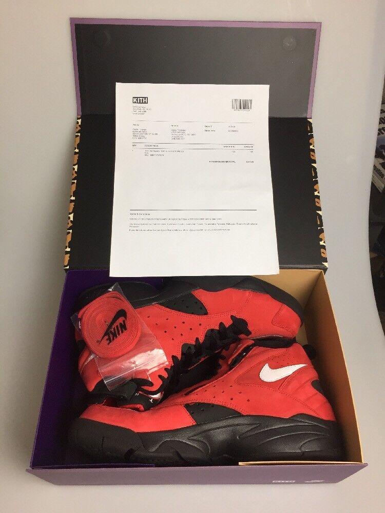 Nike Kith aire maestro negro II Universidad Rojo / negro maestro zapatilla de baloncesto Hombre cómodo casual salvaje 09afcc