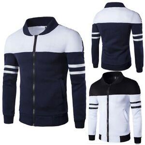 Mens-Slim-Fit-Casual-Warm-Fleece-Pullover-Long-Sleeve-Sweater-Jacket-Coat-Jumper
