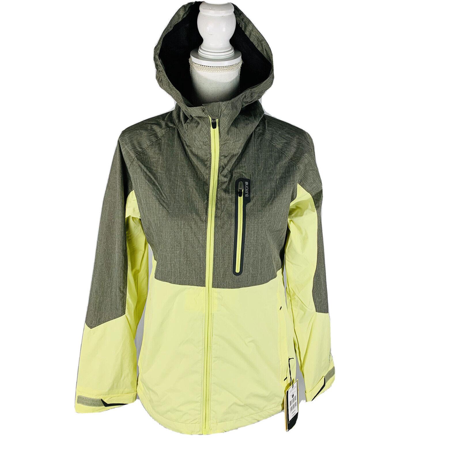 Burton Radar Snowboard Jacket Women S Small Heather Sunny Lime Green Gray New For Sale Online