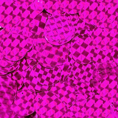 Sequin Paillettes 20mm flat Round Fuchsia Pink Prism Multi Reflective Made in USA
