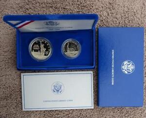 1986-S-Mint-U-S-Liberty-2-Coin-Proof-Set-Liberty-Half-amp-Proof-Silver-Dollar