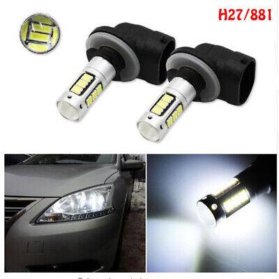4x H3 6000K White Car LED Fog Driving DRL Light Bulbs Len 10SMD Lamp High Beam