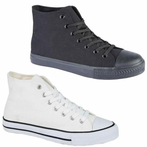 Mens Lace Up Casual Retro Hi Top Boots Deck Sneakers Trainers Pumps Shoes Size