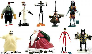 NECA Nightmare Before Christmas Christmas Christmas ACTION FIGURES Reissue MIB Set of 9 - LTD 2002 cce86d
