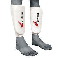 TurnerMAX Elasticated Shin Pads Kick Boxing Leg Guard Shin Protection Muay Thai