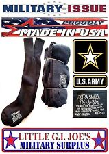 12 Pr NEW MILITARY ISSUE Black Wool Cotton Nylon Cushion Sole Boot Socks XS