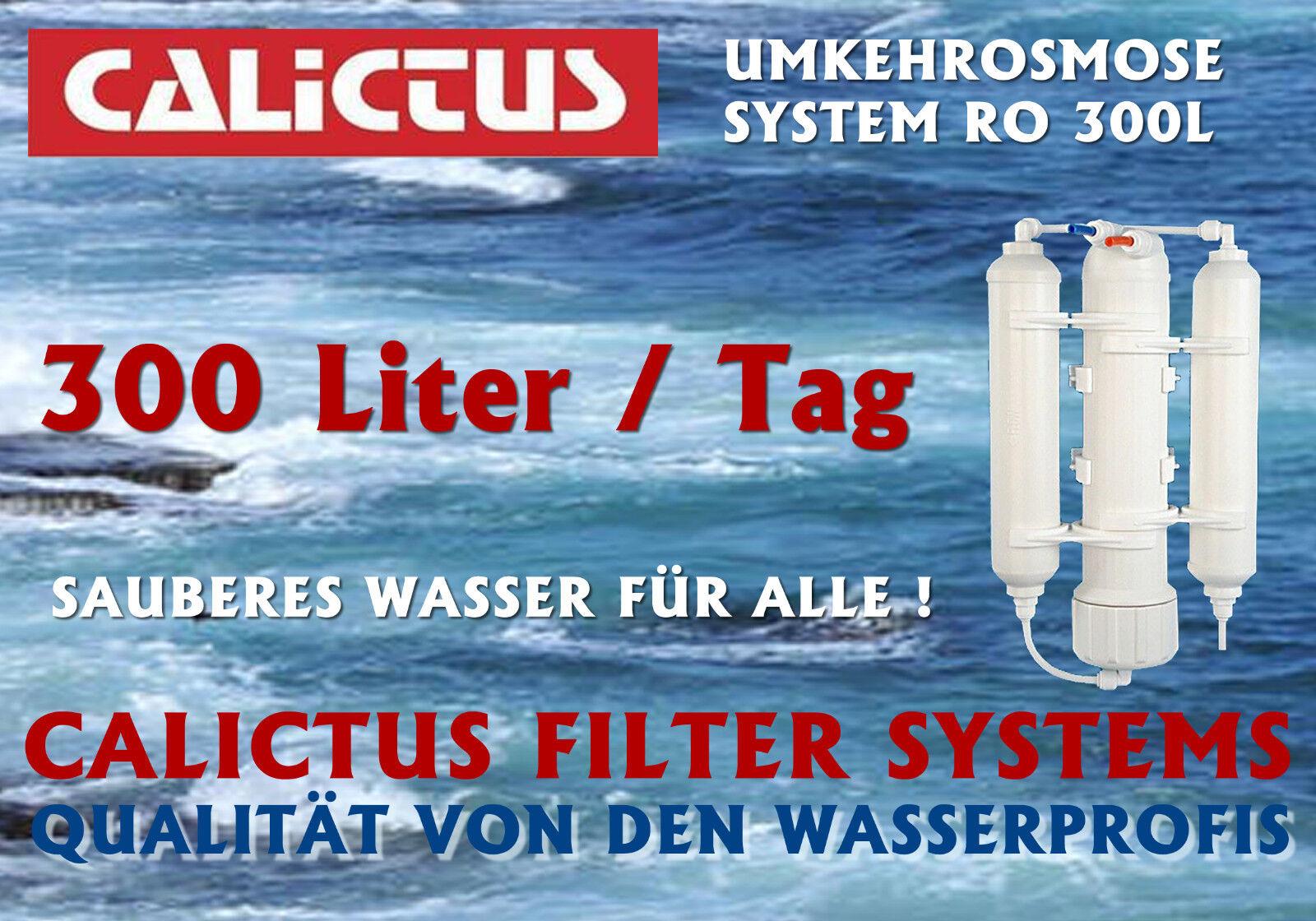 Osmoseanlage, Umkehrosmose, Osmosewasser selbst herstellen, Calictus 300 L   Tag
