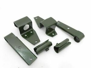 WILLYS FORD COMPLETE SIDE & FRONT TOP BOW WITH PIVOT BRACKET SET