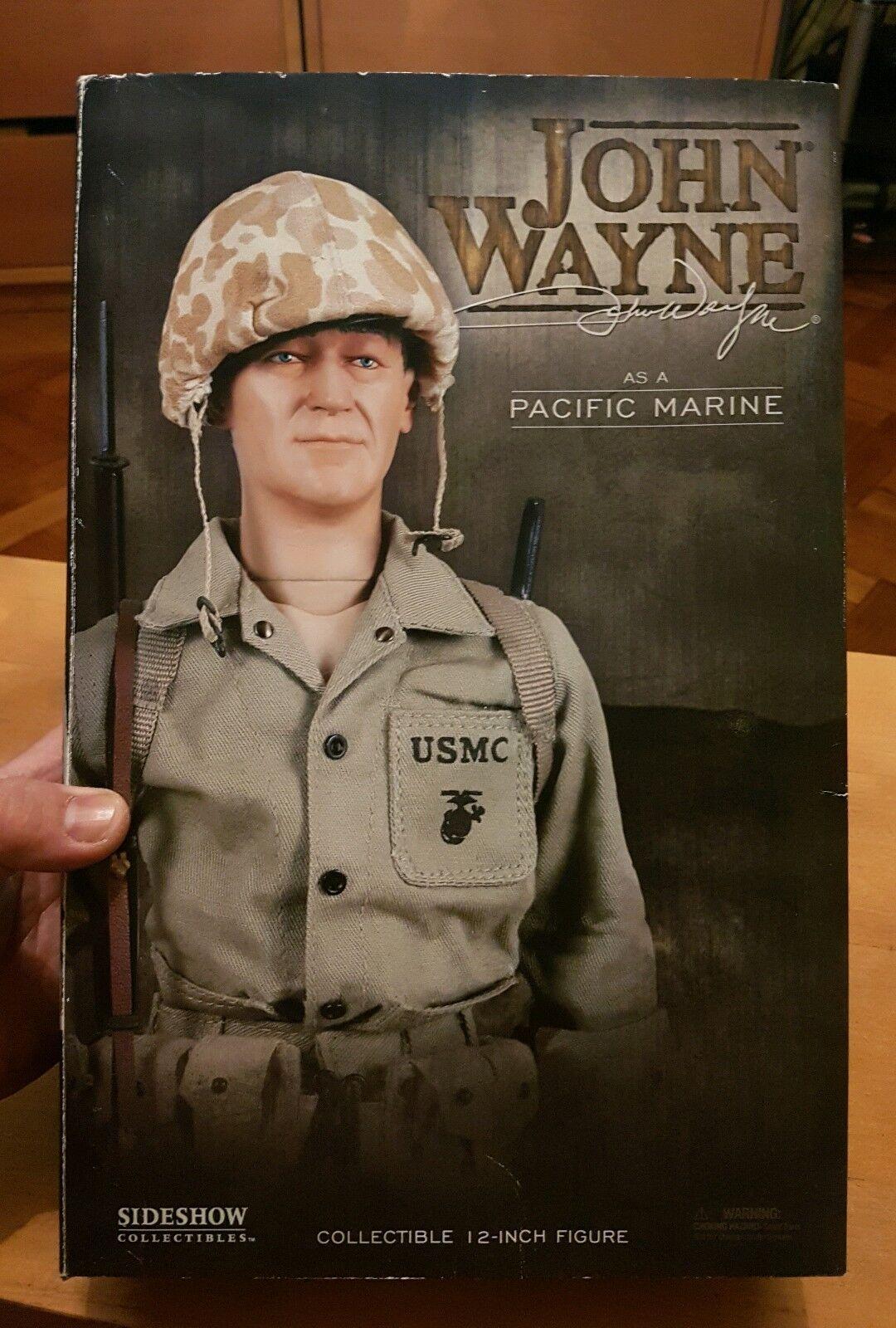 1 6 scale John Wayne as Pacific Marine 12  Sideshow WW2 figure Sands of Iwo Jima