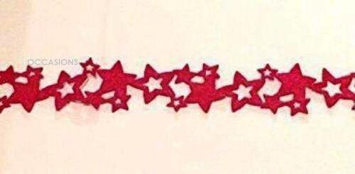 Red Felt Stars saisonnière Table Runner-Fête de Noël de Noël décoration vaisselle