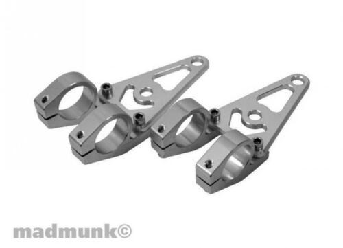 ALU CNC Lampenhalter silber 45mm mit Blinkerhalterung Kepspeed für Dax Monkey