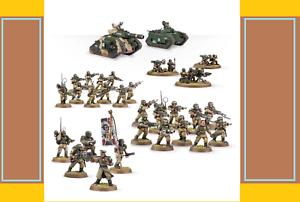 Nuevo Warhammer 40k 40,000 Cadian Fuerza de Defensa Lote Paquete Colección