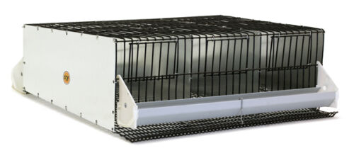 0303 3 Section Quail or Chukar Breeding Pen with Roll Out Nest. GQF Mfg
