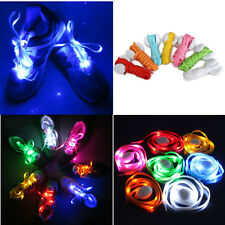 7 Pairs LED Light Up Shoelace Flash Luminous Nylon Shoestring Disco Party Xmas