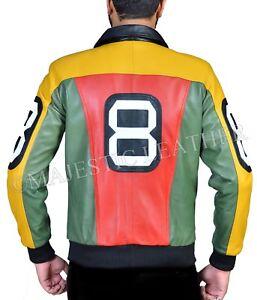 8 Ball Pool Seinfeld Michael Hoban MI Bomber Genuine Synthetic Leather Jacket