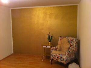 Wandfarbe pur gold effekt wandeffekt kein glitter 1 - Metallic farbe wand ...