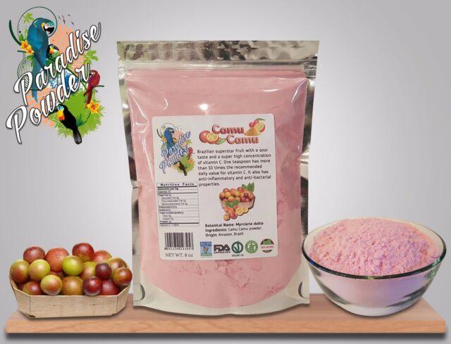 Camu Camu Freeze Dried Powder 8oz 1/2 lb High Vitamin C Content Paradise Powder