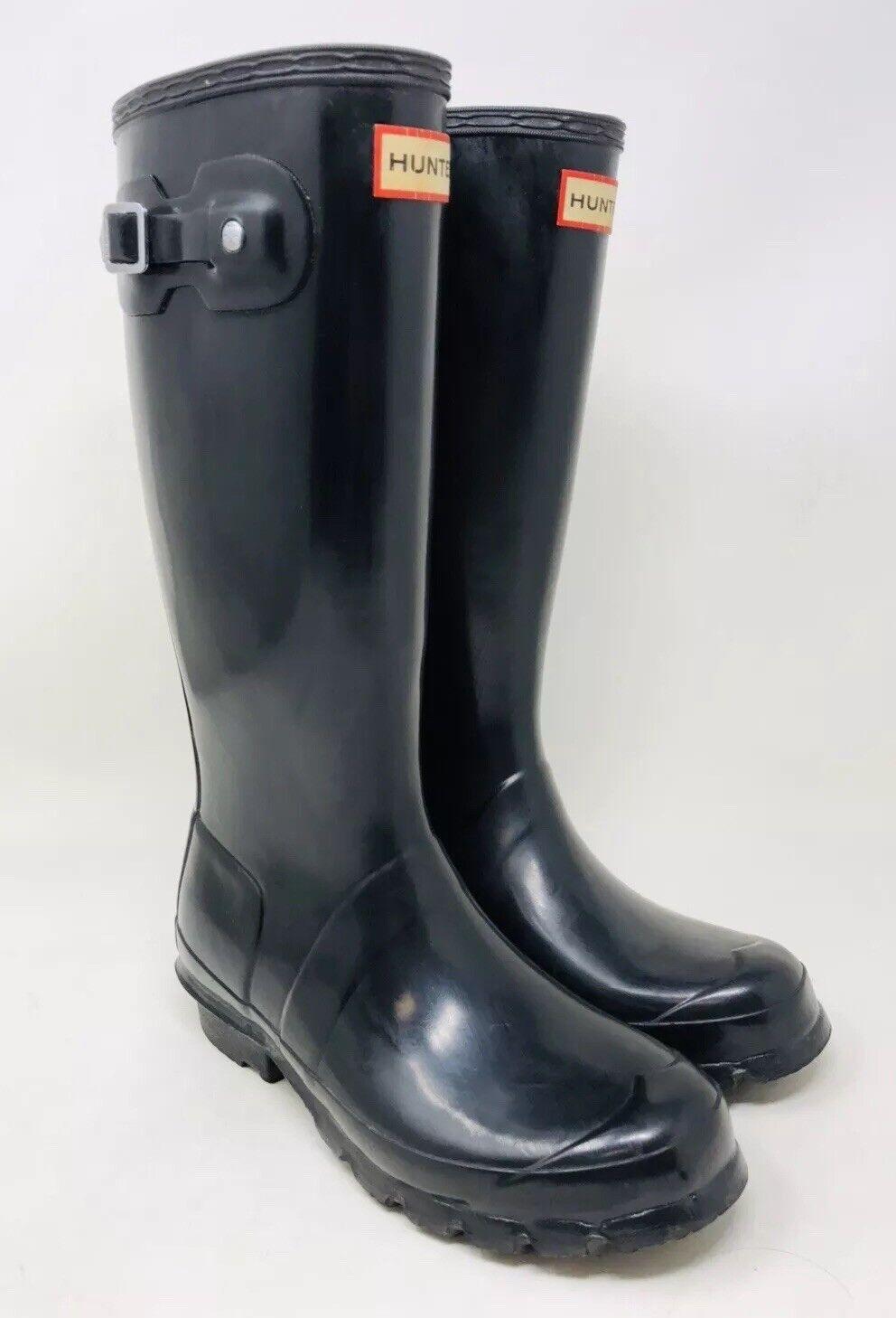 Hunter Original Tall Gloss Gloss Gloss botas talla 5 Negro de goma al por menor  150 ee8f60