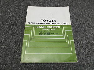 1984 toyota land cruiser fj62 fj70 fj75 chassis body service repair rh ebay com fj62 owners manual pdf FJ62 Old Man Emu
