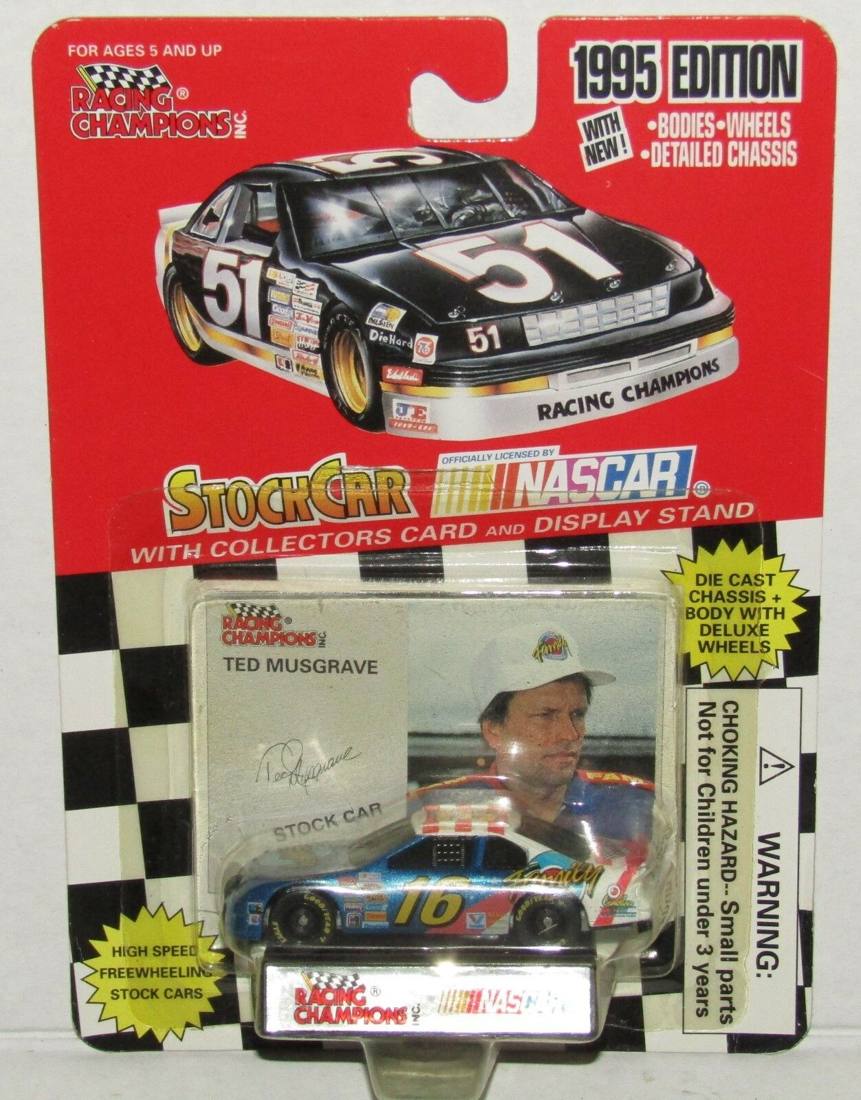 Ted Musgrave NASCAR Racing Champions 1995 Family Channel 1 64 Diecast Car