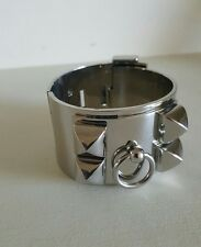 Silver Metal Stainless Steel Collier de Chien Bracelet Cuff Bangle