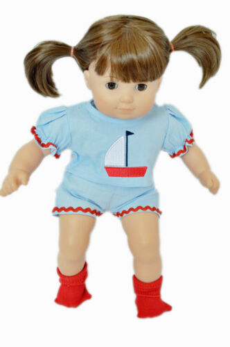 Sailboat Outfit for Bitty Twin Girl Dolls 15 Inch Doll Clothes