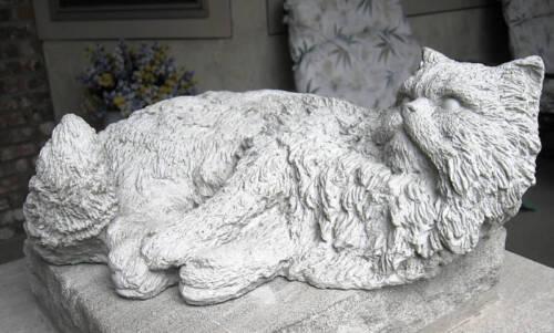 LIFE SIZE SOLID CONCRETE CAT STATUE //MEMORIAL// GRAVE MARKER