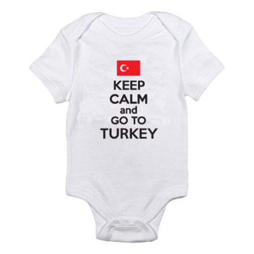 KEEP CALM AND GO TO TURKEY Suit Fun Themed Baby Grow Novelty Turkish