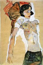 Egon Schiele Reproductions: Reclining Semi-Nude - Fine Art Print