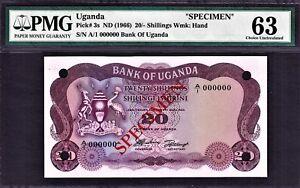 Pick 5A UGANDA 5 Shillings 1977 UNC