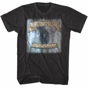 b8831cd2a Bon Jovi Men s T Shirt New Jersey Heart Tattoo Rock Band Album Tour ...