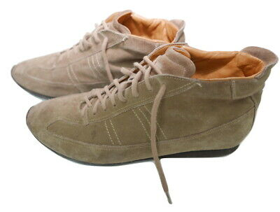 Kenntnisreich Santoni Suede High Top Sneekers Trainers Uk 8 Eu 42 Designer Rtp £495 Sneakers