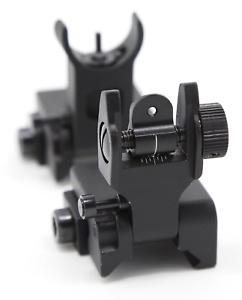Sights /& 45 Degree Front and Rear Backup Flip Up Rear Front Iron Backup
