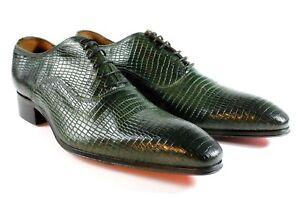 Ivan ᄄᆭlᄄᆭgantes Man Chaussures italien Troia Handcrafted S cuir Verde Rec En n0wm8N