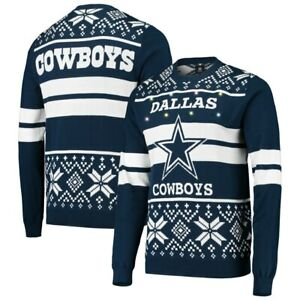 Details about New Dallas Cowboys NFL Football Light Up Ugly Christmas Sweater Men's size Large