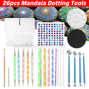 26PCS-Mandala-Dotting-Tools-Set-Kit-Painting-Rocks-Stone-Art-Pen-Polka-Do