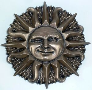 Image Is Loading 12 034 Winking Sun Face Wall Plaque Sculpture