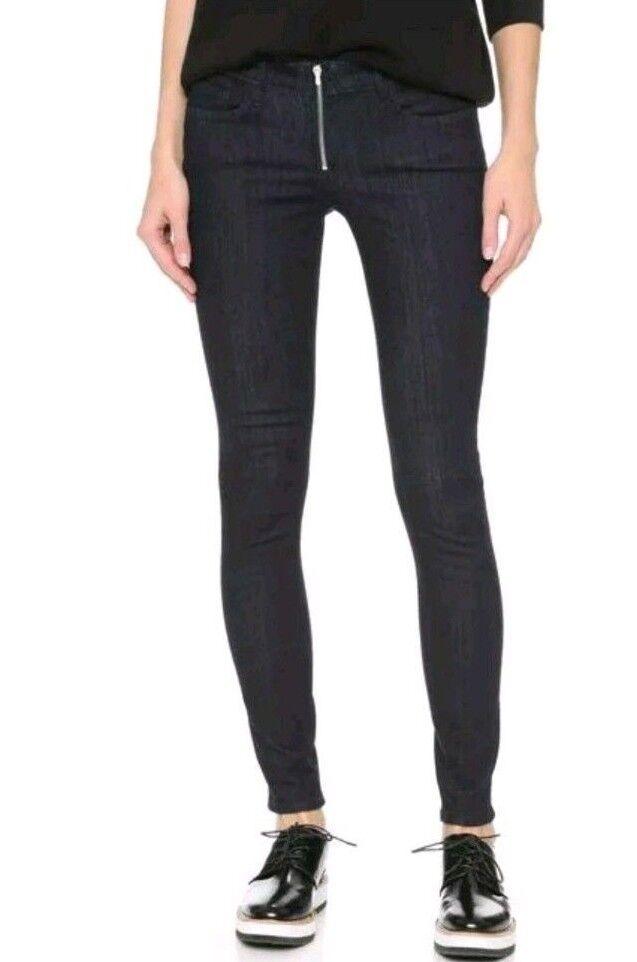 3x1 NYC ANTHROPOLOGIE SKINNY LEG Low Rise Stretch Jeans Sz 28 Dark Wash (Q
