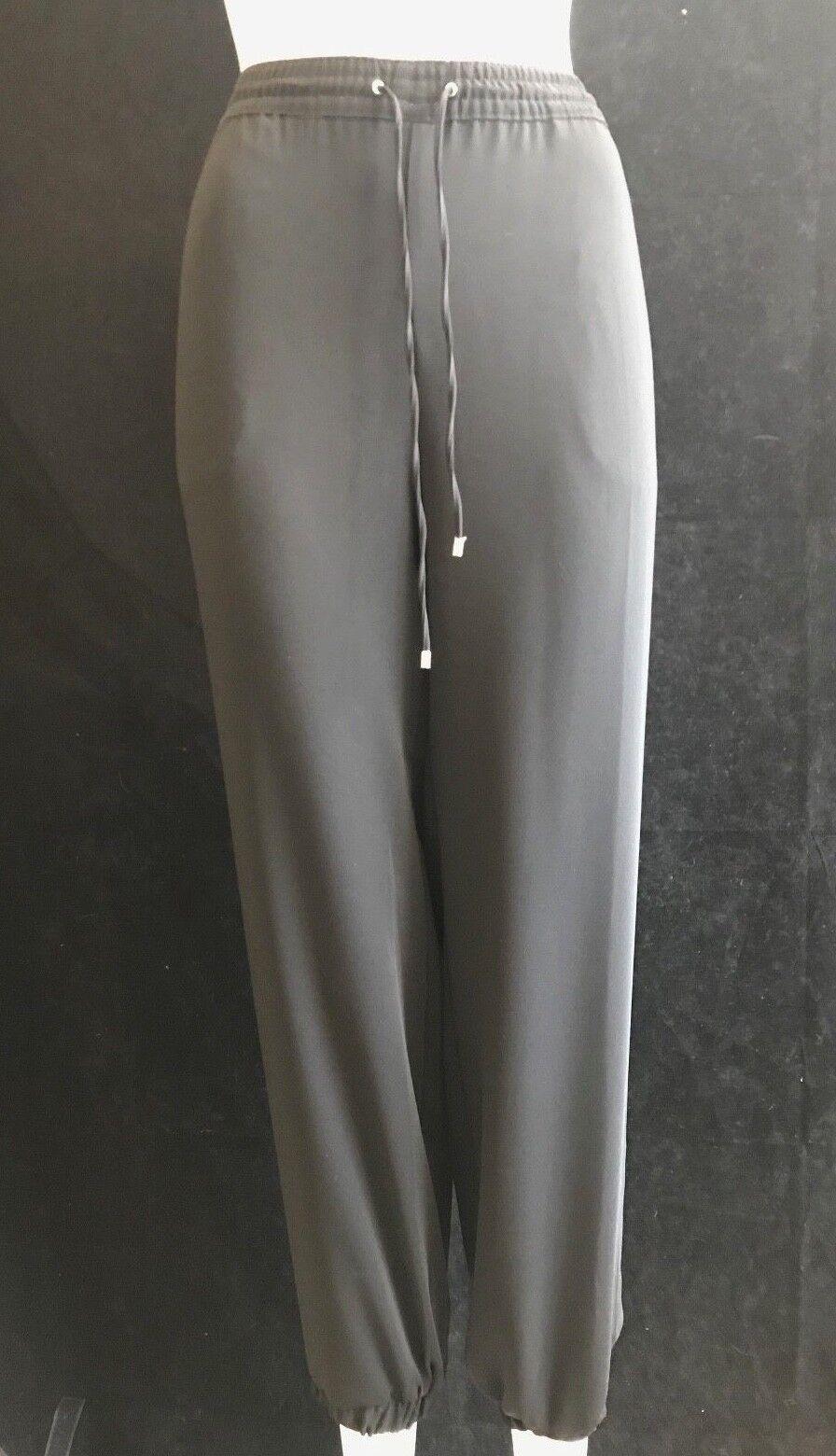 BNWT RALPH LAUREN da Donna Polo nero Casual Pantaloni Leggero UK12 US 8