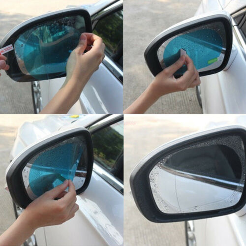 2× Oval Car Auto Anti Fog Rainproof Rearview Mirror Protective Film Accessory DE