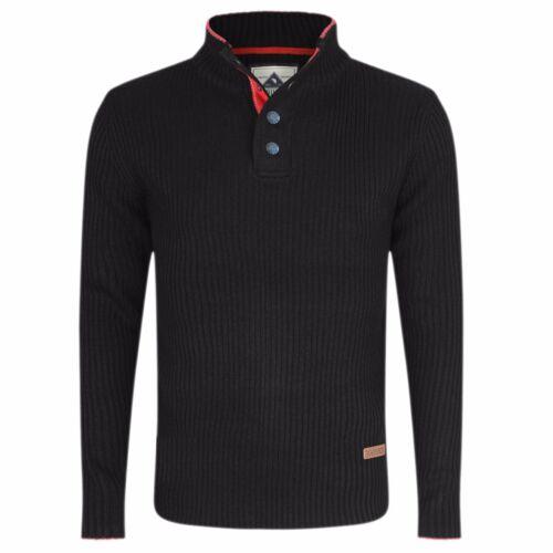 Jersey para hombre de cuello tortuga Semental Cremallera en el cuello /& Grueso Suéter Casual Nuevo M L XL XXL