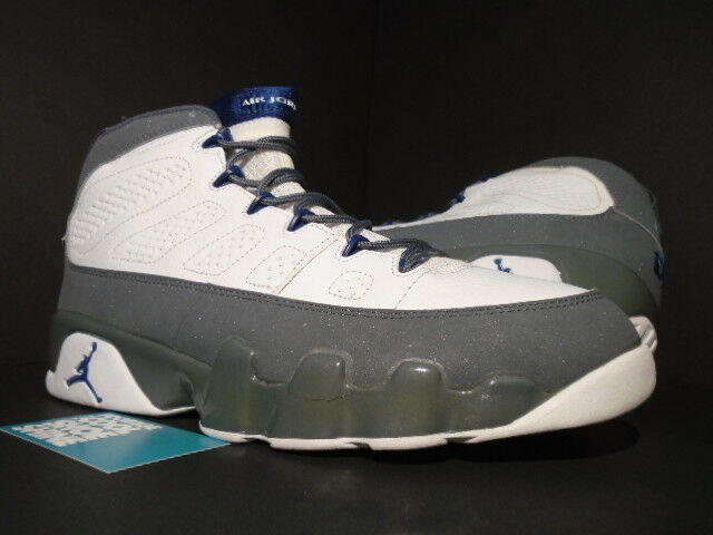 02 Nike Air Jordan IX 9 Retro WHITE FRENCH BLUE FLINT COOL GREY 302370-141 12.5 Wild casual shoes