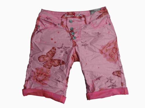 Buena Vista Femmes Stretch Jeans Shorts Bermuda krempelhose Malibu Butterfly loin